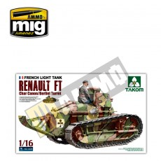 1/16 French Light Tank Renault FT char canon / Berliet turret and resin figure