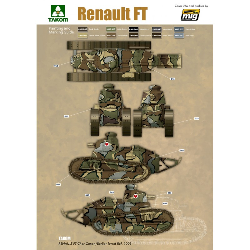 1 16 french light tank renault ft char canon berliet turret and resin figure ammo by mig jimenez. Black Bedroom Furniture Sets. Home Design Ideas
