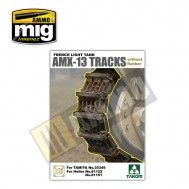 1/35 French Light Tank AMX-13 Tracks without Rubber