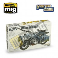 WWII German BMW R75 with Sidecar/w trailers