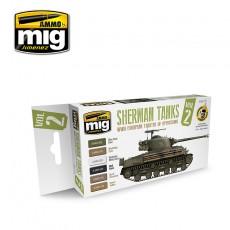 Set Sherman Tanks Vol. 2 (WWII European Theater of Operations)