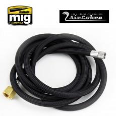 """6 foot braided air hose   1/8 inch X 1/4"""""""