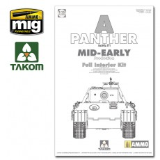 1/35 WWII German Tank  Sd.Kfz.171 Panther A mid-early production w/ full interior kit