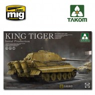 1/35  WWII German heavy tank King Tiger initial production 4 in 1