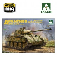 1/35 WWII Sd.Kfz.171/267 Panther A Mid/late production w/ Zimmerit/ full interior kit 2 in 1