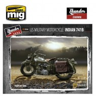 1/35 US Military Motorcycle Indian 741B (Two kits in box)