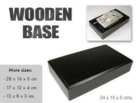 AMMO Wooden Base 24 x 15 x 5 cms