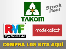 Maquetas de Plástico: TAKOM, RyeField Models y ModelCollect