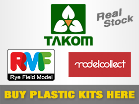 Plastic Model Kits: TAKOM, RyeField Models and ModelCollect