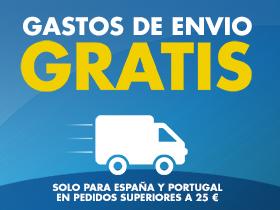¡GASTOS DE ENVÍO GRATUITOS ESPAÑA Y PORTUGAL en pedidos superiores a 25€!