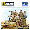 1/35 Rommel and German Tank Crew, DAK, WW II era