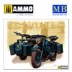 1/35 German motorcycle, WWII