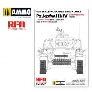 WORKABLE TRACK LINKS  1/35 For Pz.III/IV.early production (40cm)
