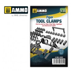1/35 Tiger tool clamps