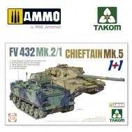 1/72 FV 432 MK.2/1+CHIEFTAIN MK.5 (1+1)