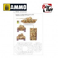 Camo-mask of PANTHER A/G 1/35 Spotted three-colour camouflage