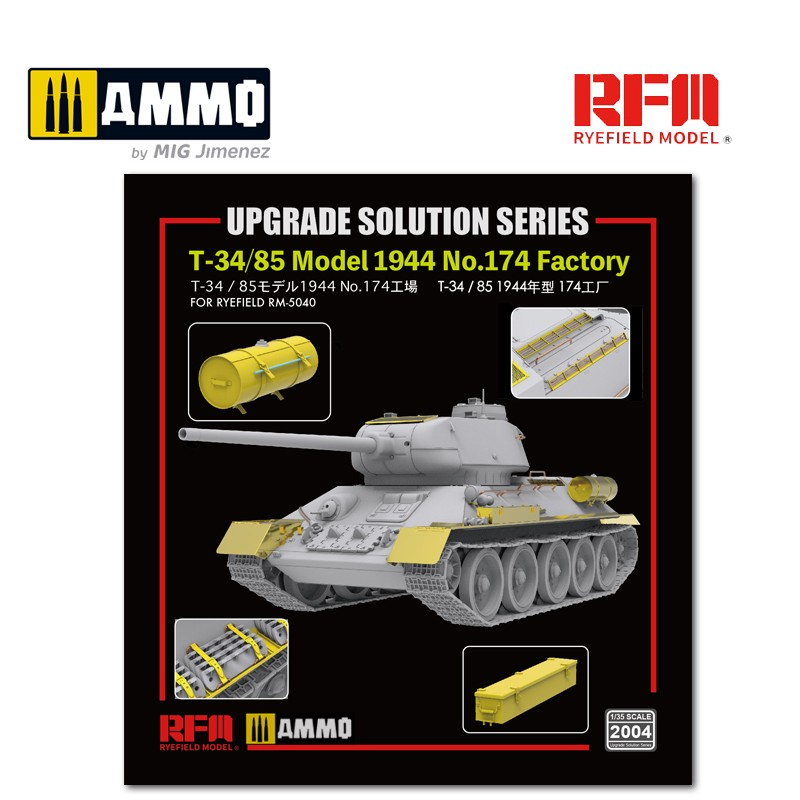 RyeField RM2004   Upgrade solution for 1//35 T-34//85 Model 1944 USA Shipping