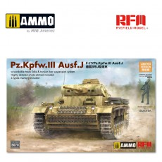 1/35 PZ. KPFW. III AUSF. J W/WORKABLE TRACK LINKS