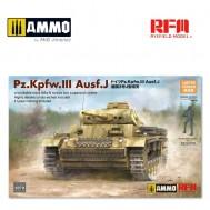 1/35 PZ. KPFW. III AUSF. J W/WORKABLE TRACK LINKS