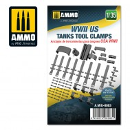 WWII US tanks tool clamps, scale 1/35
