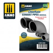 Chieftain exhaust pipes universal, scale 1/35