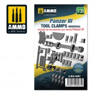 Panzer III tool clamps universal, scale 1/35