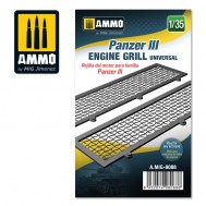 Panzer III engine grilles universal, scale 1/35