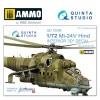 1/72 Mi-24V 3D-Printed & coloured Interior on decal paper  (for Zvezda kit)