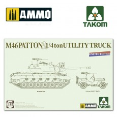 1/35 US Medium Tank M46 Patton + 1/4ton Utility Truck