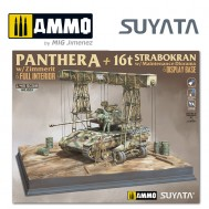 1/48 Panther A w/ Zimmerit & Full Interior + 16T Strabokran w/ Maintenance Diorama & Display Base