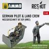 1/48 German pilot & land crew Messerschmitt Bf.109 (WW2)