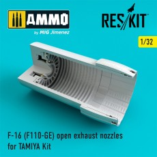 1/32 F-16 (F110-GE) open exhaust nozzles for TAMIYA Kit