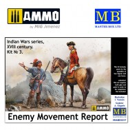 1/35 Enemy Movement Report. Indian Wars Series, XVIII century. Kit No. 3