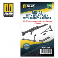 1/35 MG-42 with Half-Track Mount and Bipods