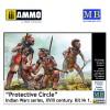 1/35 Protective Circle – Indian Wars Series, XVIII Century. Kit No. 1