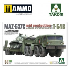 1/72 MAZ-537G  w/ChMZAP-5247G  Semi-trailer mid production & T-54B