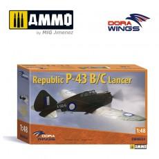 1/48 Republic P-43B/D Lancer, reconnaissance