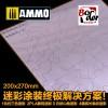 Camo Mask Cutting Mat (304 Stainless Steel - Modern Tank Armor)