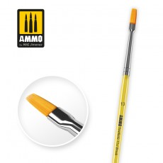 10 Synthetic Flat Brush