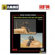 1/35 Upgrade Set Observation German Tank Man and Captain for RFM5075 (2 resin figures)