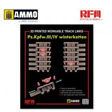 1/35 3D Printed Workable Track links for Pz.III/IV Winterketten