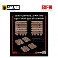 1/35 3D Printed Workable Track Links for Tiger I Initial Type Mirror Tracks