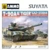 "1/48 T-90A Main Battle Tank & ""Tiger"" GAZ-233014 Armoured Vehicle"