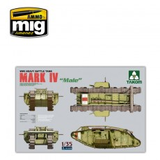 1/35 Tanque Pesado de la WWI Mark IV Male