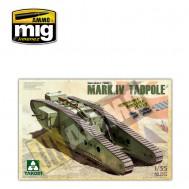 1/35 WWI Heavy Battle Tank Mark IV Male Tadpole w/Rear mortar