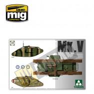 1/35 WWI Heavy Battle Tank MarkV 3 in 1