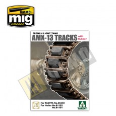 1/35 French Light Tank AMX-13 Tracks with Rubber