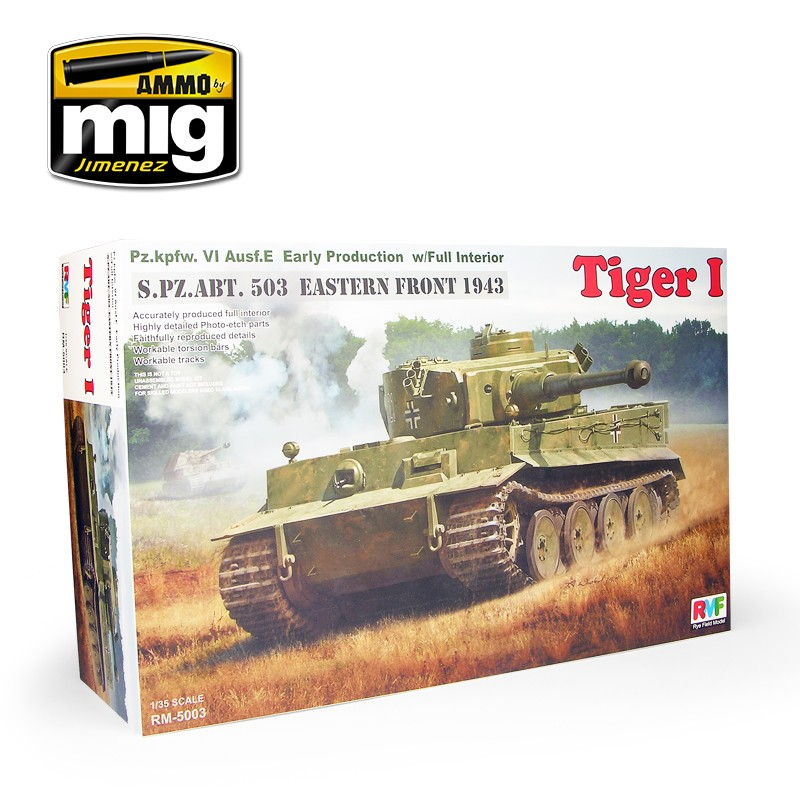 1/35 Tiger I Early Production Full Interior - AMMO by Mig Jimenez