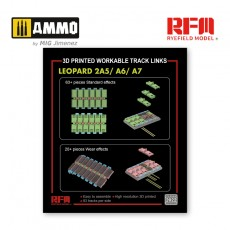 1/35 Workable track links for Leopard 2A5/A6/A7 (3D printed)