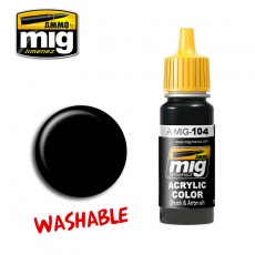 WASHABLE BLACK